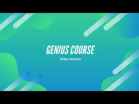 Genius Courses Themeforest PSD To HTML (Slider Area) II By Online Coder