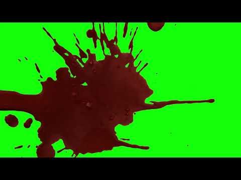 green screen blood splatter