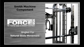 MON-G6 Functional Trainer, Power Rack, Smith Machine Combination Machine