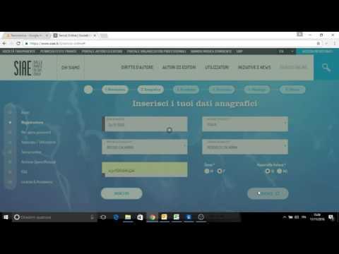 SIAE - Borderò on line: step 1 - iscrizione al sito della SIAE