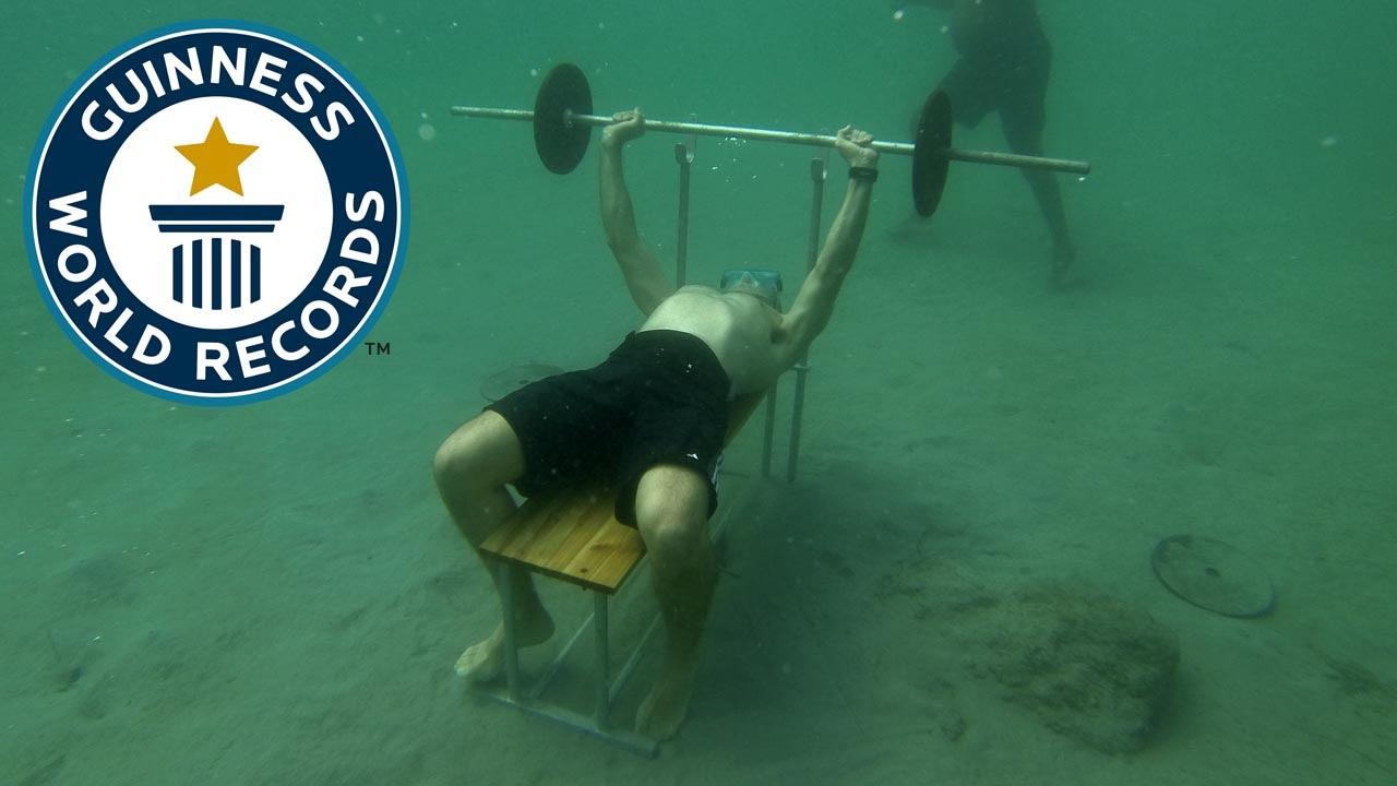 SPOTLIGHT - Most bench presses underwater | Doovi