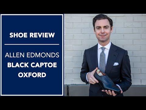Allen Edmonds Park Avenue Review: Black Cap-Toe Dress Shoes | Kirby Allison