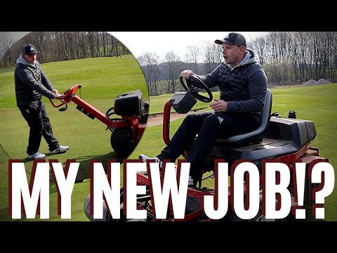 I WORKED AS A GREENKEEPER DURING GREENS MAINTENANCE!
