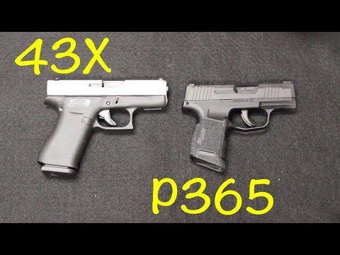 Glock 43X vs Sig P365