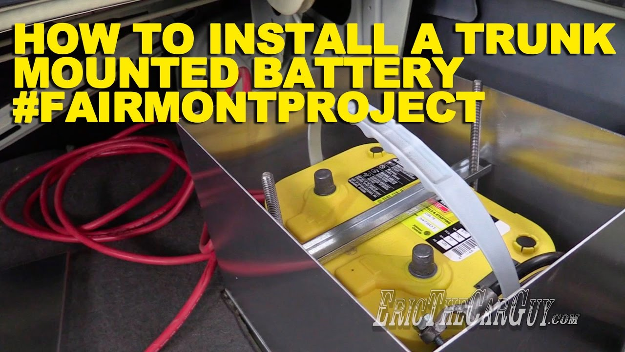 How To Install a Trunk Mounted Battery #FairmontProject - YouTube | Trunk Battery Wiring Diagram |  | YouTube
