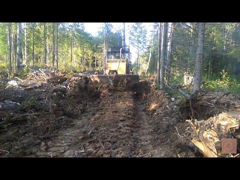 Т-170 работа трактора в лесу.
