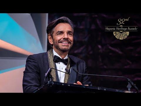 Eugenio Derbez Receives The Film Award At The 32nd Hispanic Heritage Awards