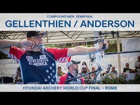 Braden Gellenthien v Steve Anderson – Compound Men's Semifinal | Rome 2017