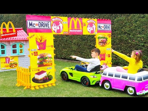 ALİNİN SİHİRLİ McDRİVE Magic McDonalds 🍔 DRIVE THRU 🚗