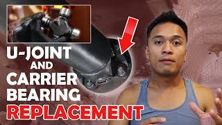U-Joint and Carrier Bearing Replacement + Driveshaft removal and installation on the Tacoma