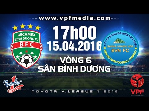 B.Bình Dương vs S.Khánh Hòa BVN - V.League 1 - 2016   FULL
