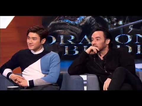 150209 The 5  with cast of Dragon Blade 12 Jackie Chan, John Cusack, Adrien Brody, Choi Siwon