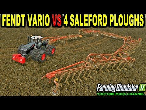 Farming Simulator 2017 Mods 4 Saleford Ploughs 1 Fendt Vario T