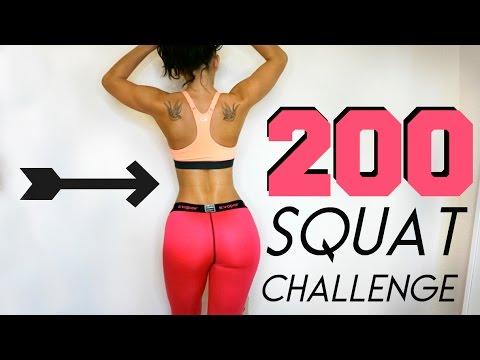 The 200 Squat Challenge!  FULL VERSION!!