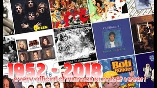 Every Official Christmas Number 1 Ever! (1952 - 2018)