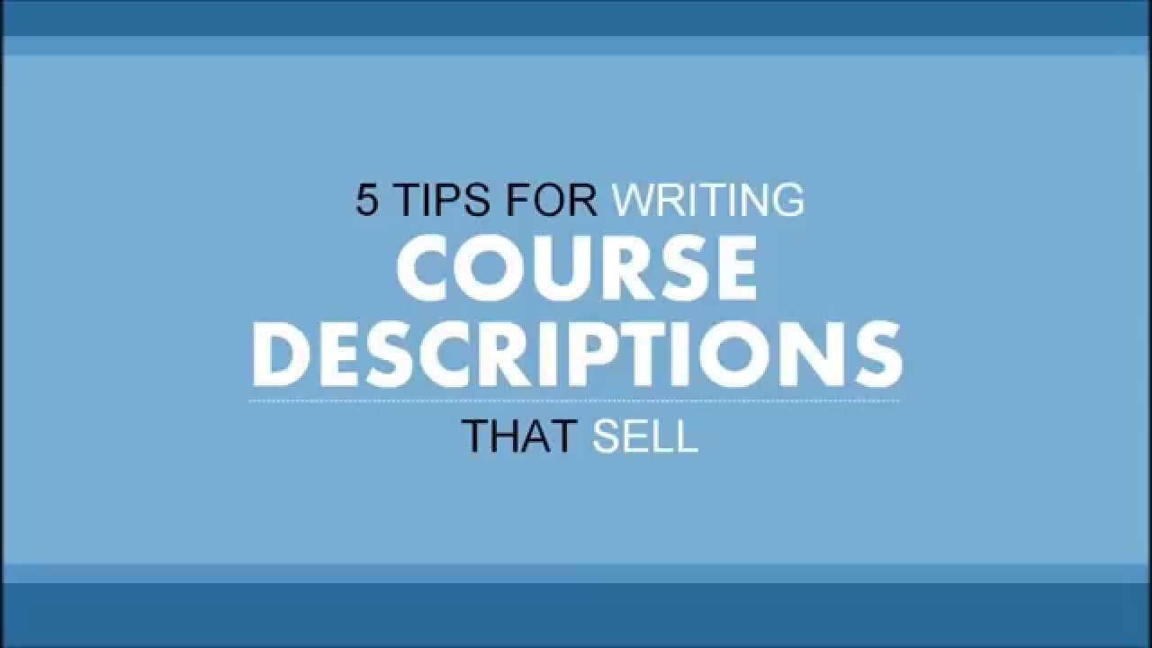 Course description dissertation writing