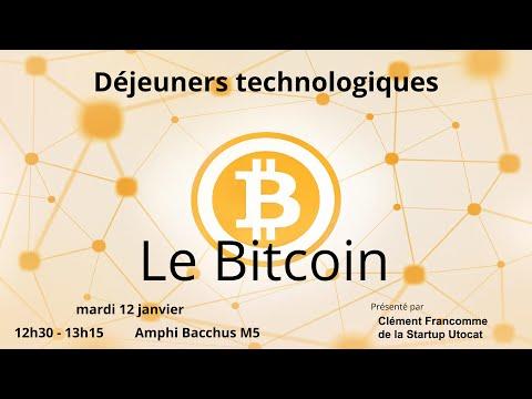 Déjeuner Technlogique #1 : Bitcoin (2015/2016)