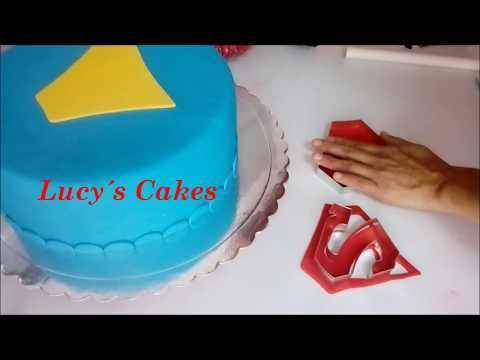 Cómo decorar torta de superman/ Lucy´s Cakes