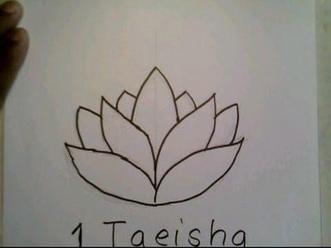 How To Draw A Lotus Flower Easy Como Dibujar Una Flor De Loto Youtube