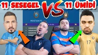 11 SESEGEL VS 11 ÜMİDİ! EFSANE KAPIŞMA | PES 2019