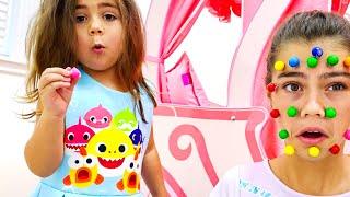 Nastya, Artem und Mia - Eine Geschichte für Kinder über Witze mit Süßigkeiten