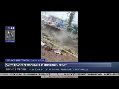 !DESASTRE! RIO MOQUEGUA REGISTRA NIVELES NO VISTOS DESDE HACE 15 AÑOS