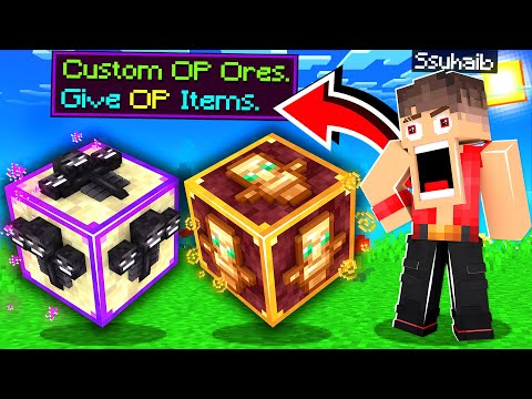 ماين كرافت بس في موارد من الوحوش!😱 (موارد التنين!)🔥 - Custom New Ores