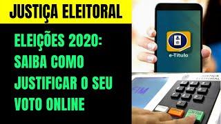 ELEÇÕES 2020: COMO JUSTIFICAR O SEU VOTO ONLINE