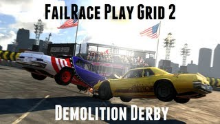 FailRace Play - Grid 2 Demolition Derby(The demolition derby game mode has finally been brought back for grid 2 so i naturally have to go check it out, and get taken out by the AI a lot. Dont forget to ..., 2013-09-04T11:02:11.000Z)