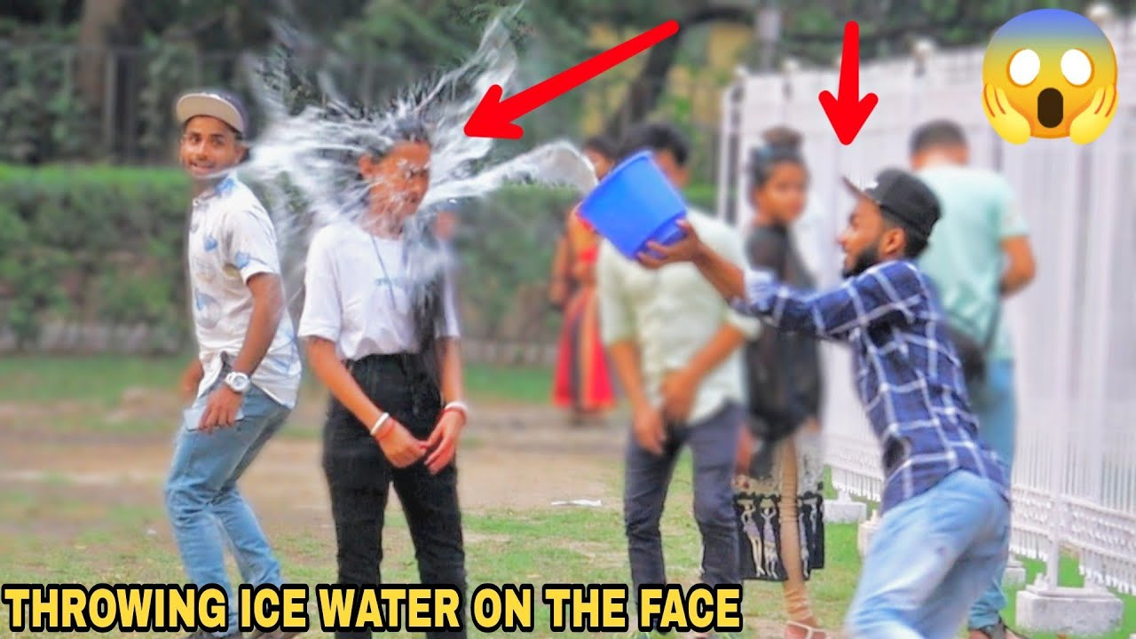 Throwing Ice Water In The Face Prank! || MOUZ PRANK