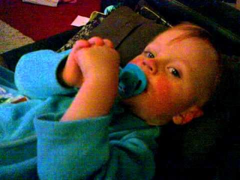 baby singing the okey cokey