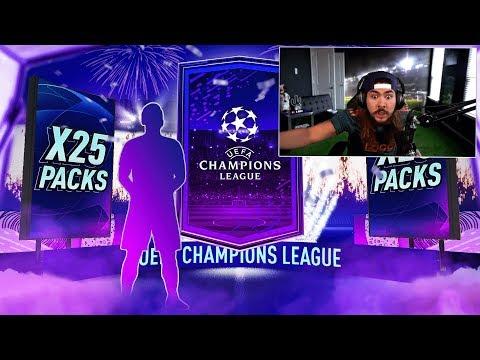 25 UCL UPGRADE PACKS!! FIFA 20