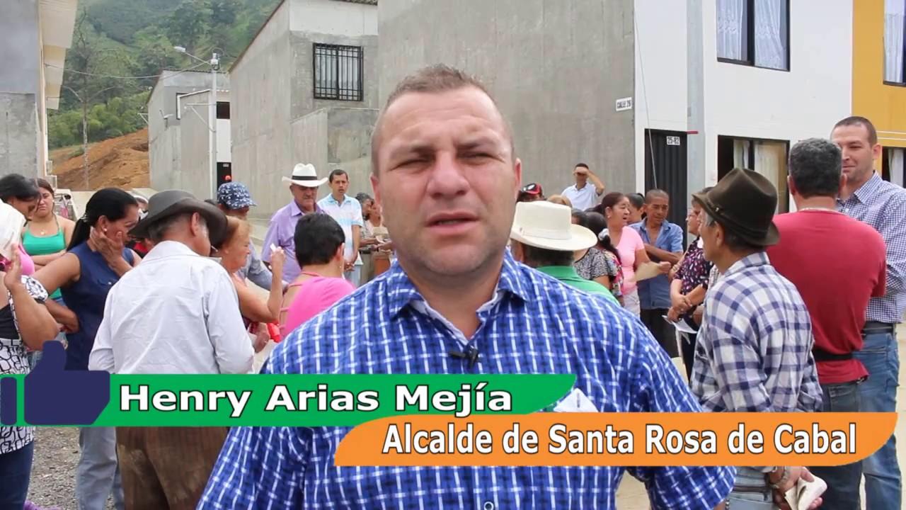 Resultado de imagen para Alcalde de Santa Rosa, Henry Arias Mejia