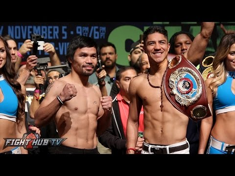 Manny Pacquiao vs. Jessie Vargas Full Weigh in & Face Off Video