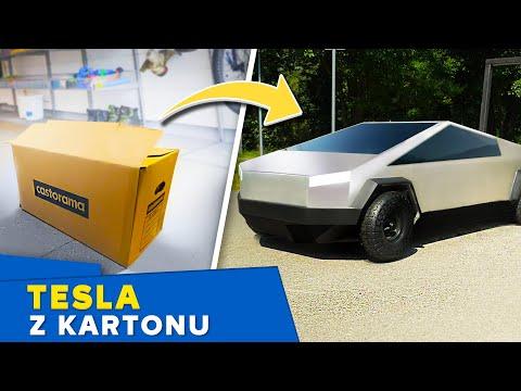 Zrobiliśmy mini Tesla Cybertruck z kartonu