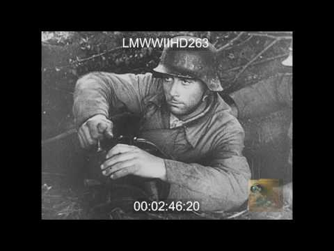 LA GUERRE, 1946; GERMAN TANKS ADVANCING; WRECKAGE IN VILLERS-BOCAGESEQUENCE, PLANES BO - LMWWIIHD263