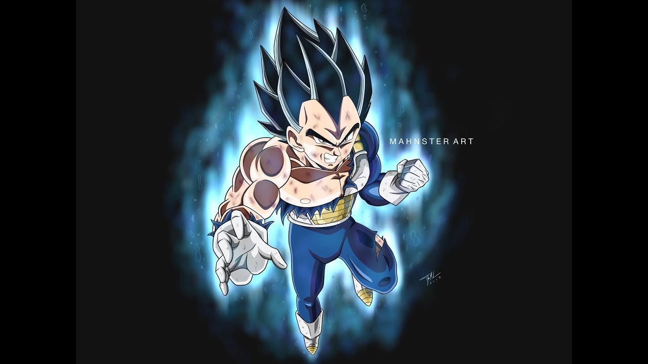 Drawing Vegeta Ultra Instinct Limit Breaker Dragon Ball Super Mahnster Art Youtube