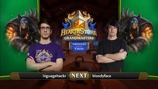 lnguagehackr vs bloodyface - Division A - Hearthstone Grandmasters Americas 2020 Season 1 - Week 5