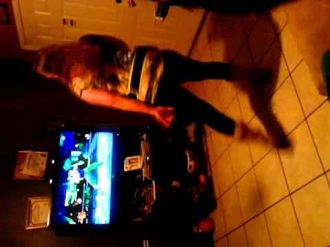 Mami dancing to kumba on zumba core for wii