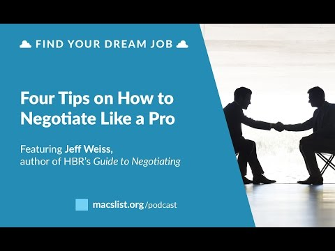 BONUS: Four Tips on How to Negotiate Like a Pro, with Jeff Weiss