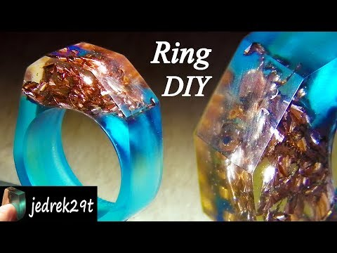 How to make a RESIN RING. DIY