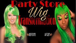 How to Dye a cheap plastic wig!