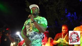 50 Cent Performing At Bay Bay's Effen Pool Party