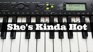 She's Kinda Hot - 5 Seconds of Summer | Easy Keyboard Tutorial With Notes (Right Hand)
