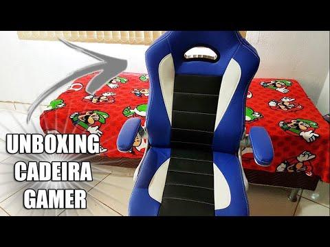 UNBOXING DE UMA CADEIRA GAMER LINDA!
