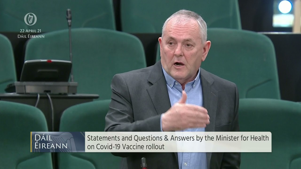 Deputy John McGuinness - Questions and Answers by Minister for Health on COVID-19 vaccine rollout.