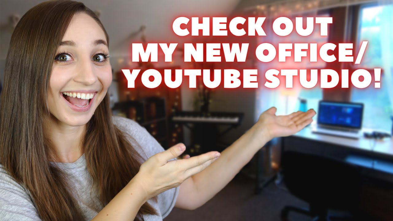 I'm building my new YouTube studio/office! Home office tour | German Girl in America