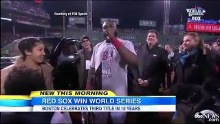 ▶ Fenway Park fun! Boston Red Sox Win 2013 World Series   Boston Celebrates 3rd Title in 10 Years