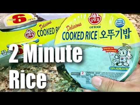 Ottogi Fresh Cooked 2-Minute White Rice, 7.40 Ounces (Pack of 12) Taste Test