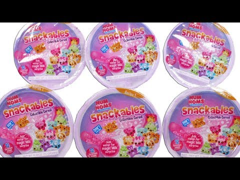 Num Noms Snackables Collectible Cereal Blind Box Unboxing Toy Review